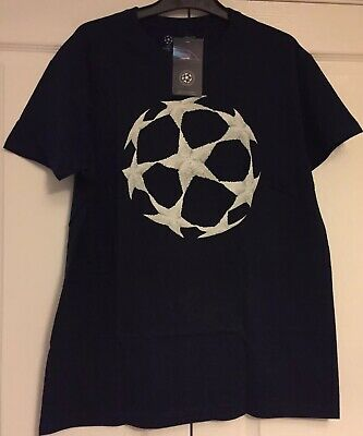UEFA Champions League 2019/2020 Official Mens Medium T-Shirt Blue With Stars