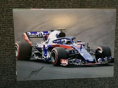 Pierre Gasly Hand Signed A4 Photo Scuderia Toro Rosso F1 Red Bull Racing