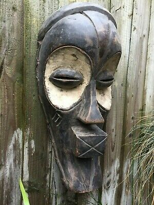 Nicely Carved Vintage 'Songye Kifwebe' Large African  Mask - Congo