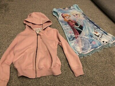 Next Girl's Hoody Jacket And Disney Frozen Nighty Age 7