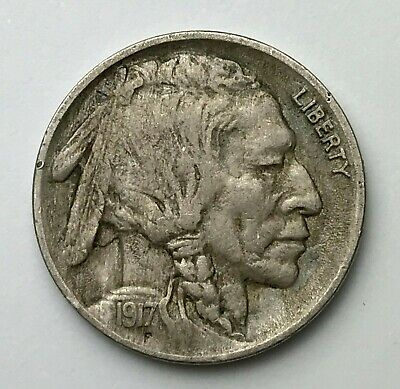 Dated : 1917 - American - Buffalo Nickel - 5 Cents Coin - America - USA