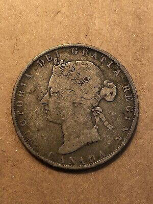 1881H Canada 50 Cent, G-VG Details KM 6