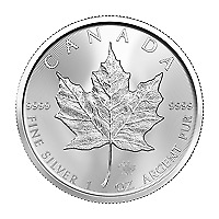 Lot of 25 x 1 oz 2020 Canadian Maple Leaf Silver Coin