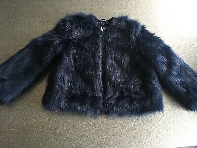 Girls Blue Dressy Coat 6yrs Very