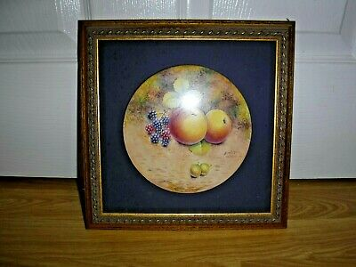 Dunheved Ceramic Hand Painted Picture ~ Signed D Wilson ~ Fruit