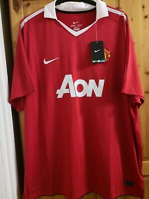 New Manchester United home football shirt jersey size 3XL Aon Nike BNWT 2010-11