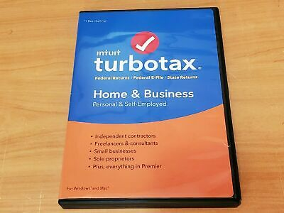 LOOK:  *Retail CD* 2017 INTUIT TURBOTAX HOME & BUSINESS FEDERAL Plus STATE CD