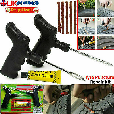 Emergency Motorcycle Car Van Tubeless Tyre Puncture Repair Kit Tire Tool Plug