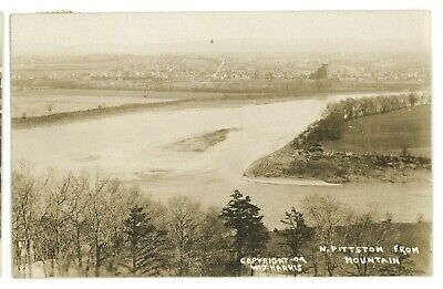 RPPC Coal Mining Aerial NORTH PITTSTON PA Luzerne County Real Photo Postcard