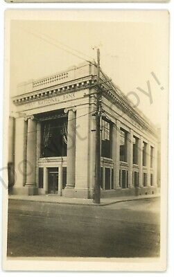 RPPC First National Bank PITTSTON PA Luzerne County Real Photo Postcard