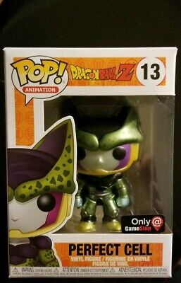 Funko POP! Dragon Ball Z Metallic Perfect Cell #13 GameStop Exclusive Damaged