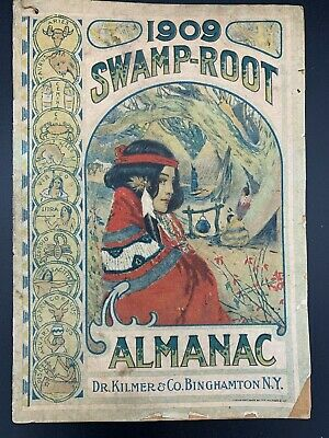 1909 SWAMP-ROOT ALMANAC Dr. Kilmers Medicine Pamphlet Early Antique Edition Rare