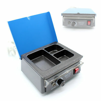 Dental 3-Well Wax Heater Pot Waxer Lab Equipment AnalogVariable Temperatures US