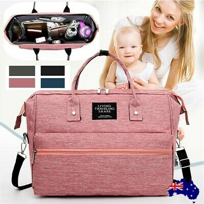 Multi functional Baby Nappy Backpack Mummy Changing Bag Boys Girls USB Backpack