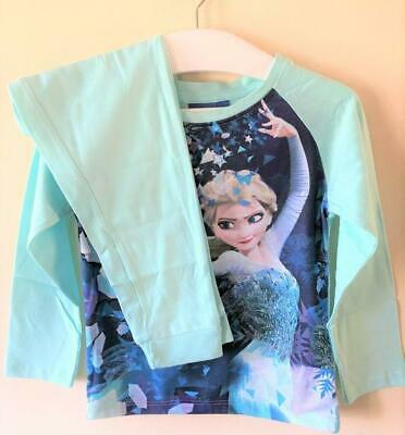 New Disney Frozen Princess Elsa Mint Green L/S Pyjamas - Official Ages 3 4 5 8 Y