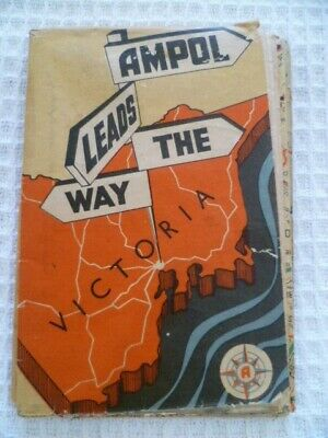 1950's Vintage AMPOL Leads the Way Road Map Victoria Gregory's Clive Barrass