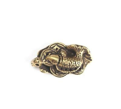 Chinese Collection old Antique Brass Small carp Exquisite Key buckle Pendant