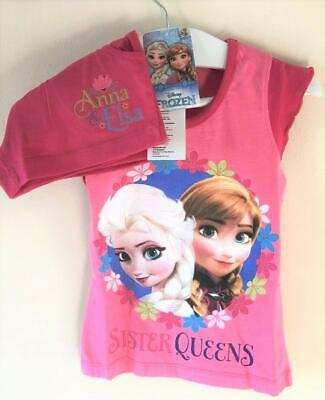 New Disney Frozen Sister Queens Pyjama Shorts Set - Official Exstore - Ages 4-12