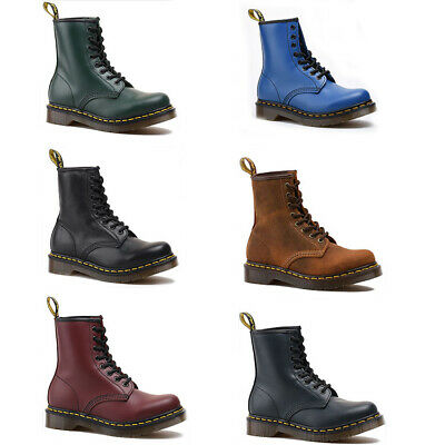 Martens Shoes 8-Eye Classic Airwair Leather Canvas Ankle Boots doc dr.Unisex