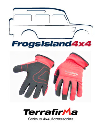 Tf3312M Terrafirma Recovery Gloves Black And Red Medium