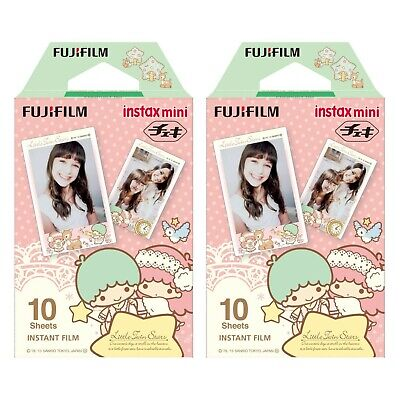 2 Packs 20 Photos Little Twin Stars FujiFilm Fuji Instax Mini Film Polaroid SP-2