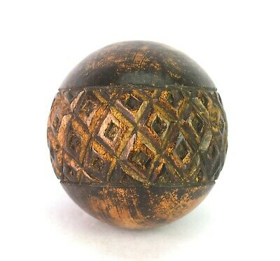 Rajasthani Art Wooden Ball Vintage Theme Handmade Big Size Wood Ball i71-367 UK