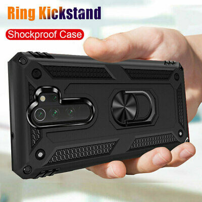 For Xiaomi Redmi Note 8 7 Pro 7A Military Armor Case Magnetic Ring Holder Cover