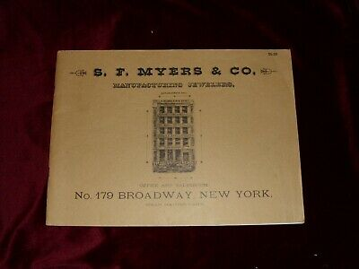 ca. 1884 Reprint of New York Jeweler's catalog of clocks/watches reference Book