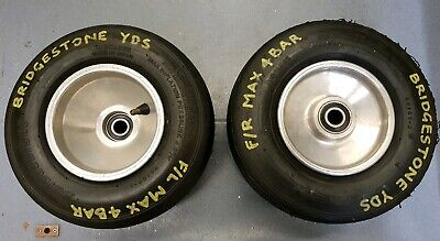 Pair of 115mm Front Kart Wheels - Good Condition