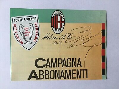Autografo originale ARIEDO BRAIDA - AC Milan 89/90-dirigente-IN PERSON!