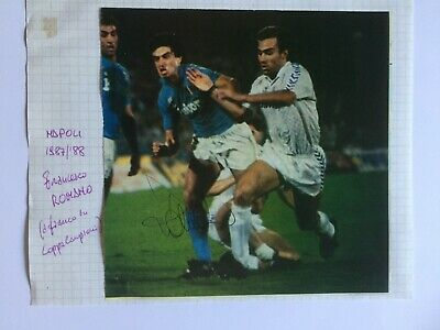 Autografo originale FRANCESCO ROMANO-SSC Napoli 87/88-Ex-Torino/Milan-IN PERSON