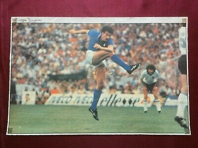 Autografo originale GIUSEPPE BERGOMI-Inter 86/87-CdM 82/90-Ex-Monza-IN PERSON