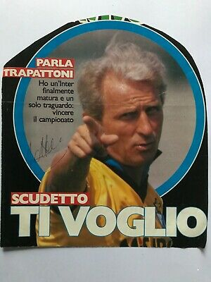 Autografo originale GIOVANNI TRAPATTONI-Inter Milano 87/88-Ex-Bayern-IN PERSON!