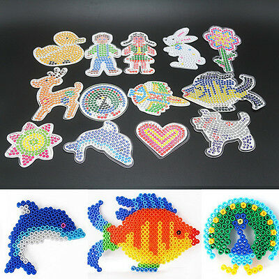 4Pcs//lot Square Round Star Heart Perler Hama Beads Peg Board Pegboard for 2 Rbw