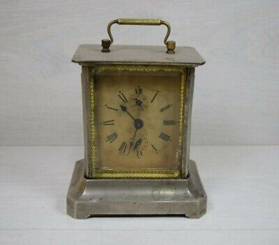 Antique Alarm Shelf Clock JUNGHANS Reich Made in German Facet Glass
