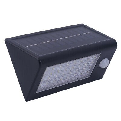 Wireless Pir Motion Sensor Solar Power Wall Lights LED Outdoor WH