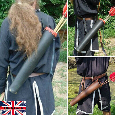Medieval Celtic Viking Faux Leather Arrow Quiver For Larp Theatre Cosplay UK