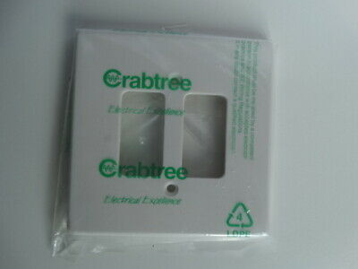 CRABTREE ROCKERGRID 5572 2 Gang White Cover Plate
