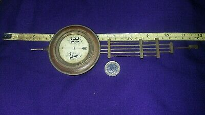 19th century French 5 rod brass and steel compensated clock pendulum.