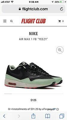 NIKE AIR MAX 1 FB BLACK FRESH MINT GREEN PINK WHITE YEEZY
