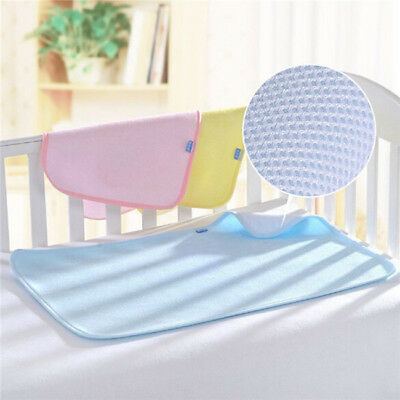 Baby Infant Bamboo Reusable Diapers Waterproof Mattress Bedding Diapering LE