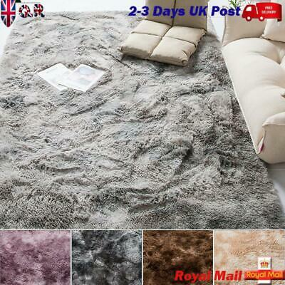 UK 3CM Soft Fluffy Rugs Large Shaggy Area Rug Bedroom Living Dining Rooms Floor