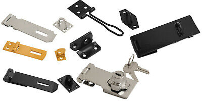 Hasp and Staple Security Locks Door Gate Shed For Padlock 38mm - 250mm Locking