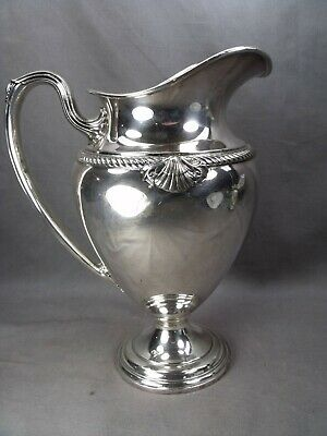 Large International Admiral Pattern Silver Plate Water Pitcher $9.99 No Reserve