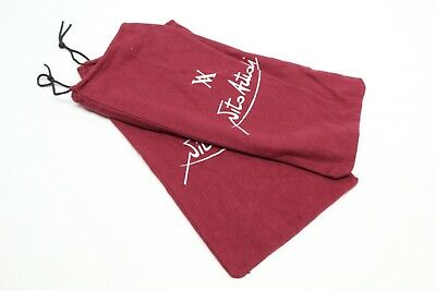 Vito Artioli Mens Shoe Storage Dust Bags Burgundy Cotton Flannel Drawstring Star