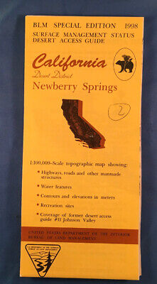 Usgs Blm Edition Topographic Map California - Newberry Springs - Desert District