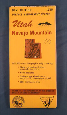 Usgs Blm Edition Topographic Map Utah - Navajo Mountains