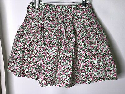 Lilly Pulitzer Girls Strawberry Vine Floral Skirt Sz 12