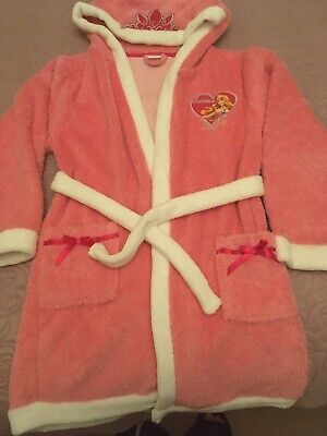 Girls Disney pink hooded bathrobe/dressing gown age 9/10. Excellent Condition