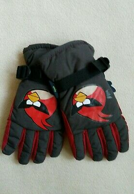 BNWT Next Boy's Angry Birds Ski Gloves Age 7-10 Years